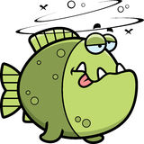 Cartoon Drunk Piranha Royalty Free Stock Images