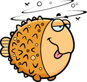 Cartoon Drunk Pufferfish Royalty Free Stock Photo
