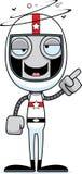 Cartoon Drunk Race Car Driver Robot Stock Images