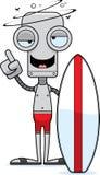 Cartoon Drunk Surfer Robot Stock Photography