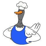 Cartoon duck character stock photo
