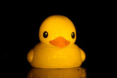Cartoon duck. Rubber Duck is by Holland artist Florentijn Hofman with the classical bathtub yellow duck for the creation of giant rubber duck art series Royalty Free Stock Images