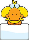 Cartoon Duckling Sign Stock Images