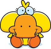 Cartoon Duckling Sitting Stock Image