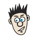 Cartoon Dude. Illustration of a young cartoon man that has spiked hair and a soul patch Royalty Free Stock Photo