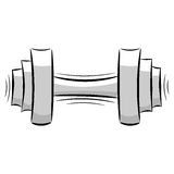 Cartoon dumbbell. eps10 Stock Photos