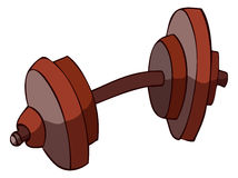 Cartoon Dumbbell, Vector Illustration. Royalty Free Stock Image