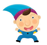 Cartoon dwarf. Beautiful and colorful illustration for the children Stock Photo