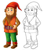 Cartoon dwarf  Royalty Free Stock Image