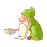 Cartoon dwarf illustration Stock Image
