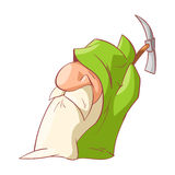 Cartoon dwarf illustration Royalty Free Stock Photo