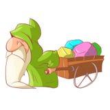 Cartoon dwarf illustration Stock Images