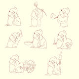 Cartoon dwarf illustration Royalty Free Stock Image