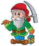 Cartoon dwarf miner. Vector illustration Stock Photography