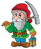 Cartoon dwarf miner vector illustration