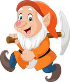 Cartoon dwarf miner. Illustration of Cartoon dwarf miner Stock Image