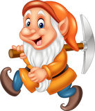 Cartoon dwarf miner Stock Photos