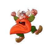 Cartoon dwarf warrior Royalty Free Stock Photos