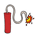 cartoon dynamite burning Royalty Free Stock Images