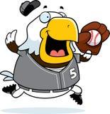 Cartoon Eagle Baseball Stock Photo