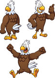 Cartoon eagle. In different poses. Vector clip art illustration with simple gradients. Each on a separate layer Royalty Free Stock Photos