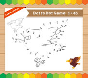 Cartoon Eagle. Dot to dot educational game for kids Stock Photography