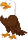 Cartoon eagle posing vector illustration