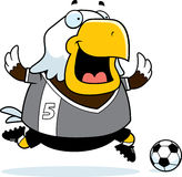 Cartoon Eagle Soccer Stock Photography