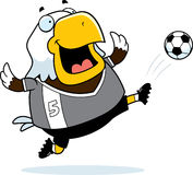 Cartoon Eagle Soccer Kick Royalty Free Stock Images