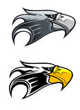 Cartoon eagle symbol. Isolated on white for tattoo or another design Royalty Free Stock Photos