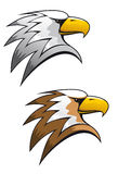 Cartoon eagle symbol. Isolated on white for tattoo or another design Stock Images
