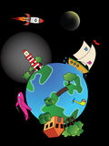 Cartoon earth Stock Images