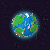 Cartoon earth concept Royalty Free Stock Photo