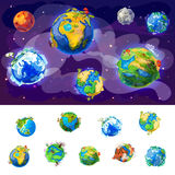 Cartoon Earth Globes Concept Stock Images