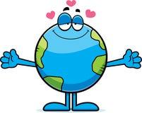 Cartoon Earth Hug Stock Photo