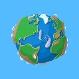 Cartoon earth  Stock Image