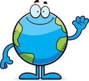 Cartoon Earth Waving Royalty Free Stock Photos