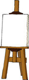 Cartoon easel. Easel on a white background vector Stock Photo