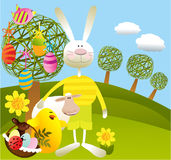 Cartoon Easter background Royalty Free Stock Photos