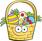 Cartoon Easter basket Stock Photography