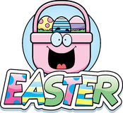 Cartoon Easter Basket Graphic Stock Image