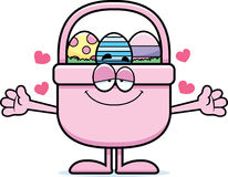 Cartoon Easter Basket Hug Stock Photo