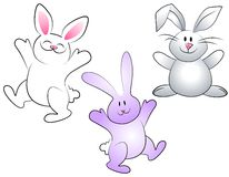 Cartoon Easter Bunnies Royalty Free Stock Photo