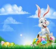 Cartoon Easter Bunny Background Stock Image