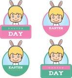 Cartoon Easter Bunny Boy Graphic Stock Image