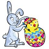 Cartoon Easter bunny Royalty Free Stock Image
