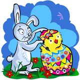Cartoon Easter bunny Royalty Free Stock Images