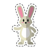 Cartoon easter bunny cute standing Stock Images