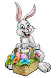 Cartoon Easter Bunny Egg Hunt Stock Photography
