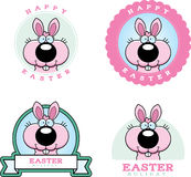 Cartoon Easter Bunny Graphic Stock Image